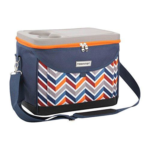 anndora Kühltasche Picknicktasche 22 Liter Kühlbox Dunkelblau Orange