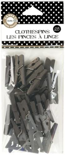 Canvas Corp CVS2159 1-Inch-by-.25-Inch Mini Mini Mini Chocolate Clothespins 25 Pieces by Canvas Home Basics bd2d81