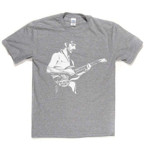 Frank Zappa Rock Guitar Star Icon Music Tee T-shirt Ash Grey