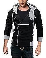 Homme Assassin creed Hoodie pull sueur chaude veste à capuchon thermique vêtements (XL-5XL)