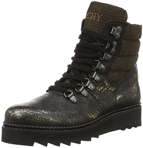 Yellow Cab Damen Soil W Kurzschaft Stiefel Gold, 39 EU