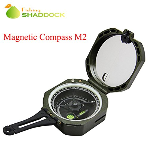Shaddock Fishing ® High Precision Magnetic Compass Pocket Shockproof Multi-function Fluorescent with Pouch Navigation Survival Tool for Outdoor Camping Hiking Activities