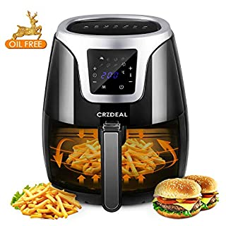 CRZDEAL 3.5L Air Fryer Appliance 1500w with Oil-Free Mode | Non-stick Pan & Basket , Digital Touch Screen for Healthier Life