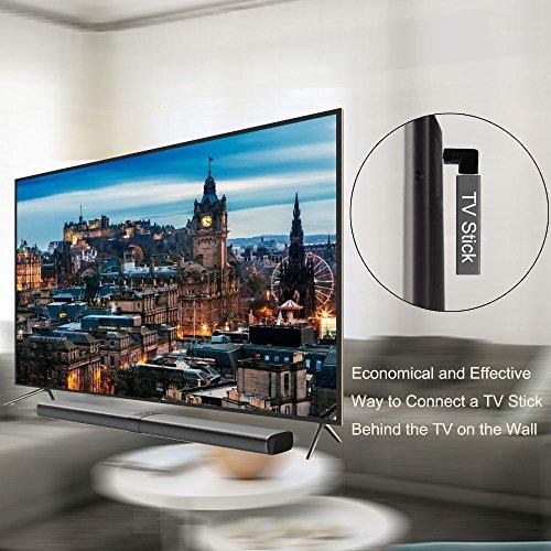 Ganvol Confezione da 2 Adattatore HDMI Curvo in a 90/° + 270 Angolo, con Fascette Fermacavi, HDMI Adattatore Maschio A Femmina, HD TV // 2K // 3D e 4K Supportati