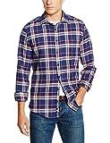 Redford Herren Freizeit Hemd Slim Fit, Blau (Blau 02), S (Herstellergröße: 37/38)