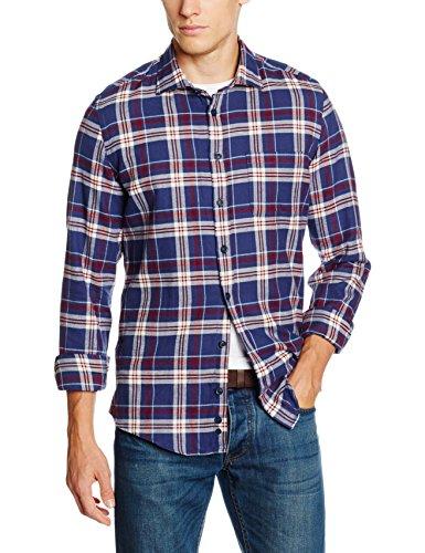Redford Herren Freizeit Hemd Slim Fit, Blau (blau 02), XL (Herstellergröße: 43/44) (Karo Hemd Flanell)
