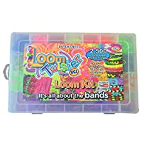 Value Smash Loom Rubber Bands, DIY Rubber Band Refill Kit, 2500 Loom bands,6 charm looms In Unique Colors, 50 S-Clips, for make bracelets, ornaments, etc.