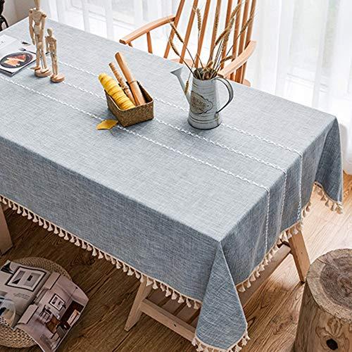 Tischdecke, Tischwäsche Tischdecke Nordischen Stil Esstisch Tuch Moderne Einfachheit Couchtisch Tischdecke Baumwolle Und Leinen Kleine Frische Net Rot Rechteck Tischdecke (blau) GAOFENG - Rechteck Blau Tischdecke