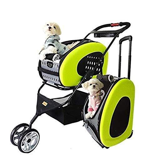 Jlxl Senioren-Hunde- und Katzen-Kinderwagen, Trolley, Rucksack, Umwandlung ohne Sitzplatz;Reisesystem