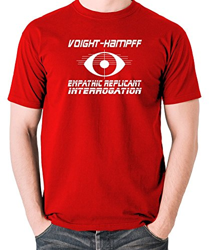 Blade Runner - Voight-Kampff, Empathic Replicant interrogatorio T Shirt Red Large