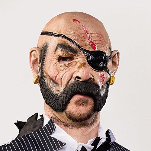Special-FX Maske Pirat - beweglicher Mund / Moving Mouth - hochwertige Latexmaske für Halloween, Fasching, Karneval & (Pirat Maske)