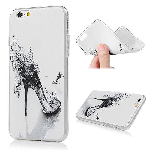 Lanveni Handyhülle für iPhone 6 / iPhone 6S Hülle×3, Handytasche Etui Protective Case Cover TPU Silikon Schutzhülle TPU-Bumper Weiche Silikon Case mit Bunte Cover Design (Farbe 6) Farbe 4