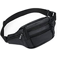 AirZyx waterproof bumbags and fanny packs leather for men women waist bag for men women outdoor sport running hiking
