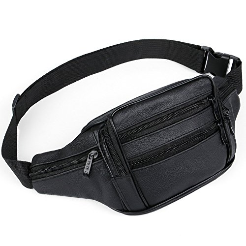51nJ43UwhUL. SS500  - AirZyx waterproof bumbags and fanny packs leather for men women waist bag for men women outdoor sport running hiking