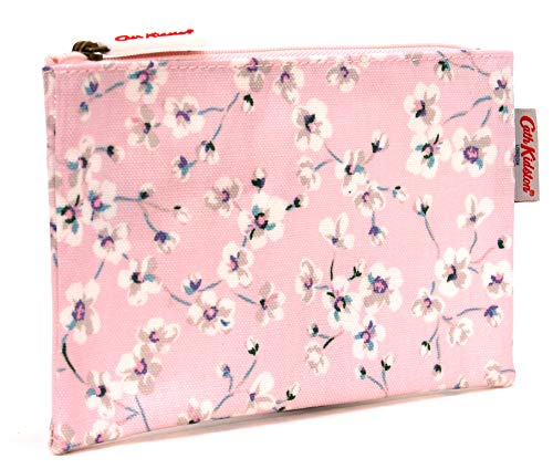 Cath Kidston - Astuccio portamatite con cerniera 'Wellesley Ditsy' in tela cerata rosa chiaro