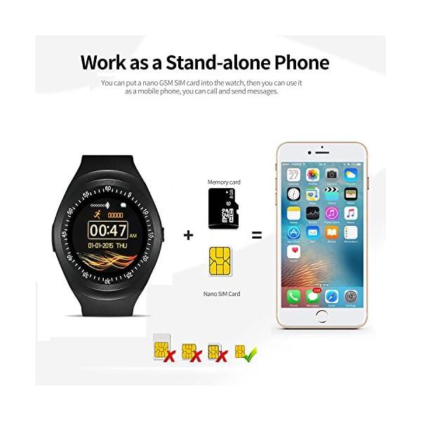 12968a4080593 reloj smartwatch ZKCREATION bluetooth reloj inteligente K1 ...