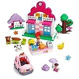 Spielen Bau Supermarkt Bausteine Set - 95 Stück - Inklusive Lebensmittelgeschäft, Kasse, Haus, Baum, Auto, Essen, Mama & Mädchen Minifiguren, Hund, Kaninchen & mehr - Kompatibel mit LEGO DUPLO