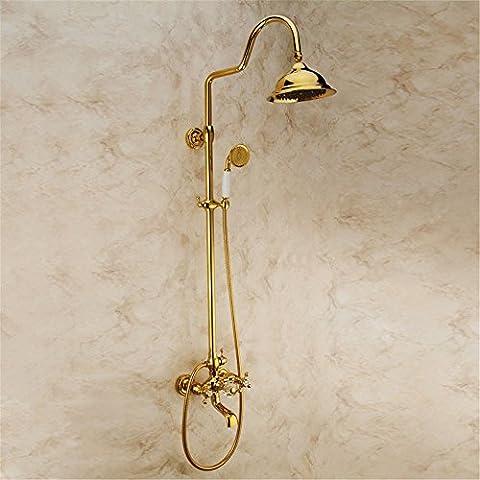 CAC Retrò il bagno completo di doccia, kit bagno montato a parete kit doccia,home bagno, decorazione, semplicità C59