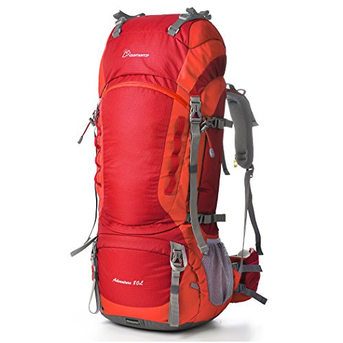 Mountaintop 80L Outdoor Backpacker Rucksack Test mit Regenabdeckung (83 x 36 x 25cm)