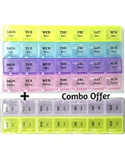 Bulfyss Tablet Pill Organizer Box With Snap Lids | 7-Day Am/Pm | Large Compartments For Bigger Pills,White,18Cm X 9 Cm,Food Grade Plastic