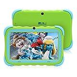 iRULU 7 Zoll Android 7.1 Kinder Tablet IPS HD Bildschirm 1GB/16GB Babypad PC mit WiFi und Kamera und Spiele Google Play Store Bluetooth Unterstützter Kids-Proof Case GMS Certified Y57(Grün)