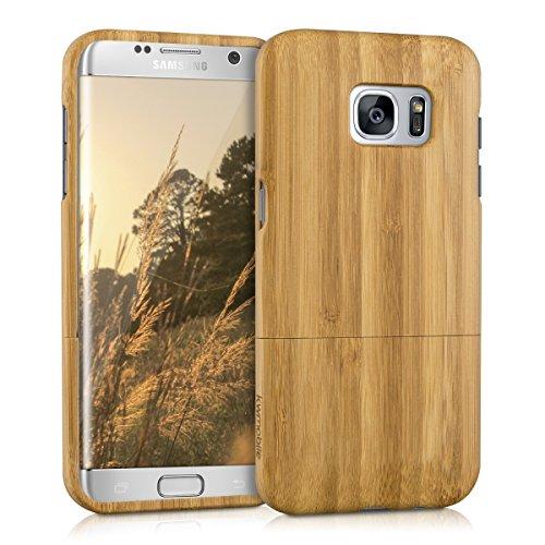Kwmobile samsung galaxy s7 edge cover bambù - custodia in bamboo naturale - case rigida backcover per samsung galaxy s7 edge