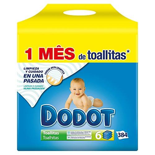 Dodot - Pack de 6 unidades con 64 toallitas, 384 toallitas en...
