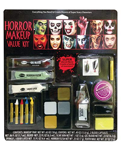 21-teiliges Horror Schminke Spar Set- Halloween Make-up (Halloween Make Up Kits)