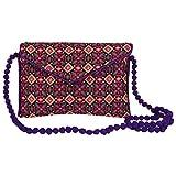 Craft Trade Cotton Multicolour Rajasthani Print Clutch