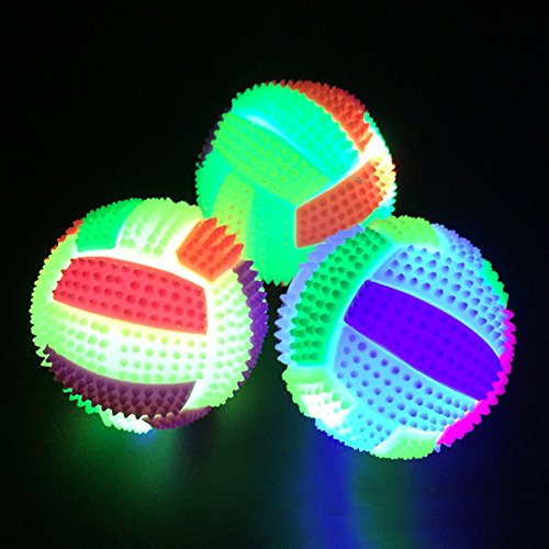 UxradG Kinder Spielzeug Ball – LED Volleyball Blinklicht bis Farbwechsel Bouncing Igel Ball Indoor Outdoor Kids Pet Toy