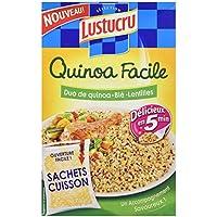 Lustucru Quinoa Facile Duo Quinoa/Blé/Lentilles Sachet Cuisson 300 g
