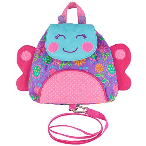 Stephen Joseph Children's Backpack with Reins - Butterfly Kinder-Rucksack, 24 cm, 1 liters, Pink (Stephen Joseph-butterfly)