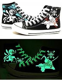 One Piece Anime Zoro Iwabuchi Cosplay Schuhe Leinwand Schuhe Sneakers Luminous 3Choices, Herren, schwarz