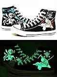 Telacos One Piece Anime Zoro Iwabuchi Cosplay Schuhe Leinwand Schuhe Sneakers Luminous 3Choices, Herren, schwarz