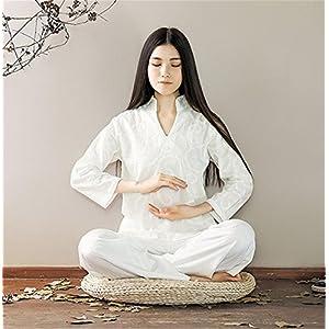 Baumwolle Leinen Yoga Bekleidung Anzug/Meditation Kleidung/Tops + Hosen
