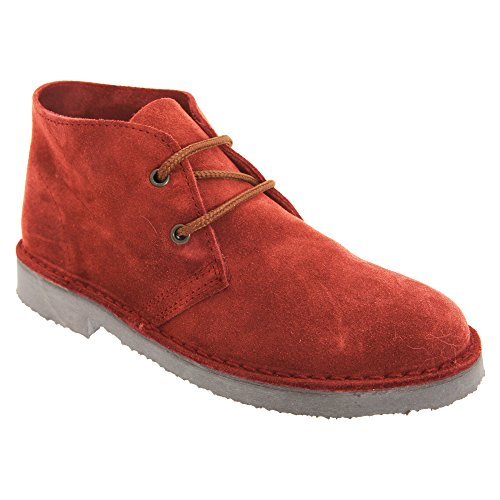 Roamers - Bottines en cuir - Homme Bordeaux