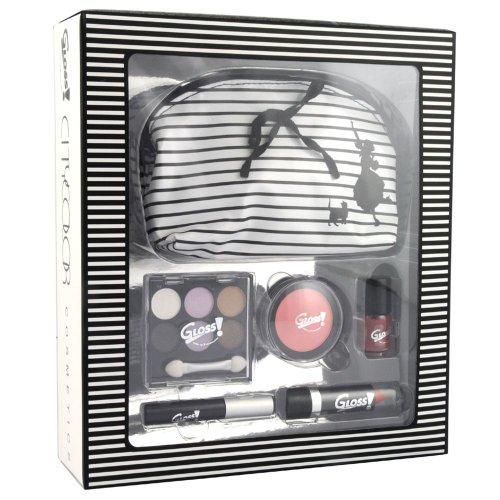 Gloss ! Make up & accessoires Rayée Noir et Blanc 11 Pièces, Coffret Cadeau-Coffret Maquillage