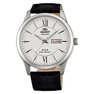 Orient Reloj Analógico para Unisex Adultos de Automático con Correa en Cuero FAB0B003W9