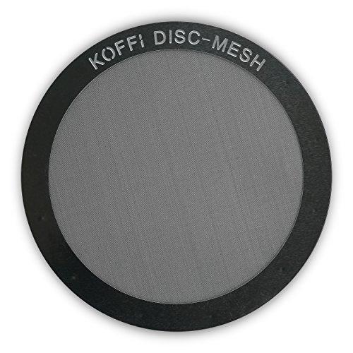 Filtro de metal para AeroPress. Disco de malla de acero inoxidable, reutilizable y ultrafino - Para un mejor sabor en tu café, KOFFI  DISC
