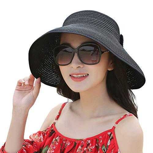 daliyugushangmaoyouxian zerengongsi Damenhüte, weiblicher Sommer im Freien am Strand faltbar, breite Sonnenbrillen mit breiter Krempe