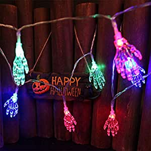 Lights & Lighting 1.2m 10 Led Ghost Hand Shape String Lamp Halloween Toy Skeleton Night Light String Light For Halloween Party Home Terror Blub