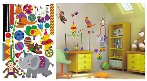 fürs Kinderzimmer Wandtattoo/Wandsticker 70cm x 50cm aus Deutschland (Zirkus Dekor)