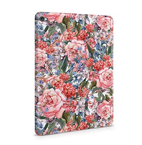 Lily Handy Snap (Flowers Pink Rosa Roses & Wildblumen Muster Dünne Tablet Handy Schutzhülle Hardcase Aus Hartplastik Hülle für iPad Mini 4 Case Cover)