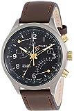 Timex Intelligent Quartz Herren-Armbanduhr Chronograph leder braun T2N931 AU