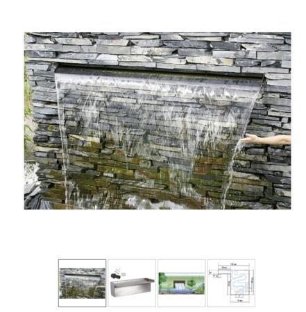 Seliger Wasserfall Aqaufall 1500 mm, Silber, 150 cm