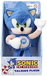 Sonic the Hedgehog Toy - Talking 8 Inch Plush Figure - Nintendo