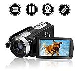 MARVUE Videokamera Camcorder Full HD 1080p Digital Kamera 16x Digital Zoom Kamera 270° drehbarer 3 Zoll LCD Bildschirm mit Fernbedienung