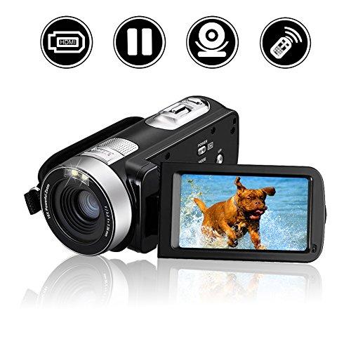 Videokamera Camcorder Full HD 1080p Digital Kamera 16x Digital Zoom Kamera 270° drehbarer 3 Zoll LCD Bildschirm mit Fernbedienung