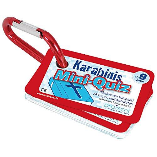 °*Karabinis mobil - Kartenspiel mit Karabiner (rot (Mini-Quiz))