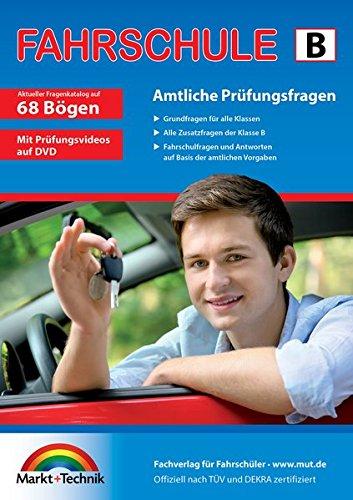 Fahrschule Fragebogen Klasse B - Auto Theorieprüfung original amtlicher Fragenkatalog auf 68 Bögen